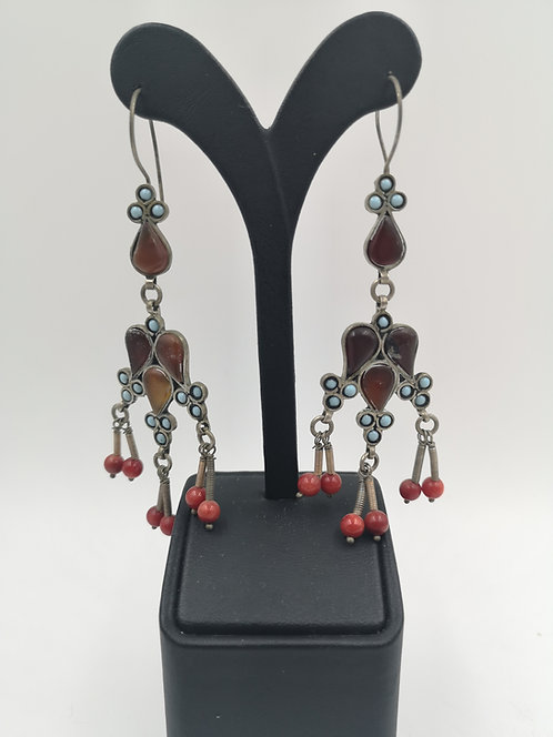 Afghan silver earrings