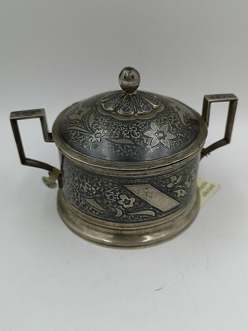 Russian niellow silver box with stamps