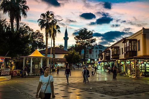 """Postcard """"Kaş, Square"""""""