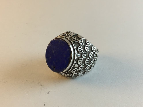 Afghan Silver Lapis Lazuli Hand Made Ring