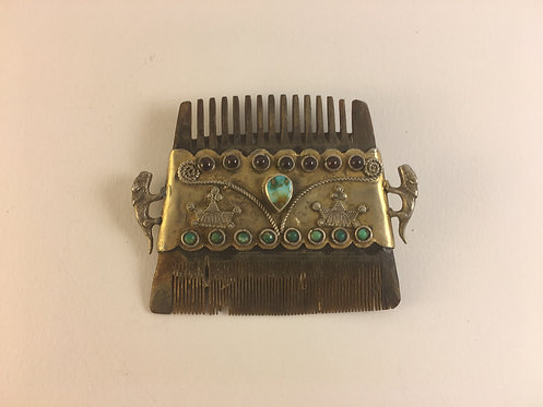 Afghan Silver Horn Comb