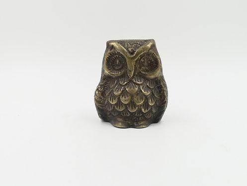 Brass casting owl