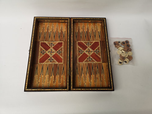 Medium Marquetry Backgammon set