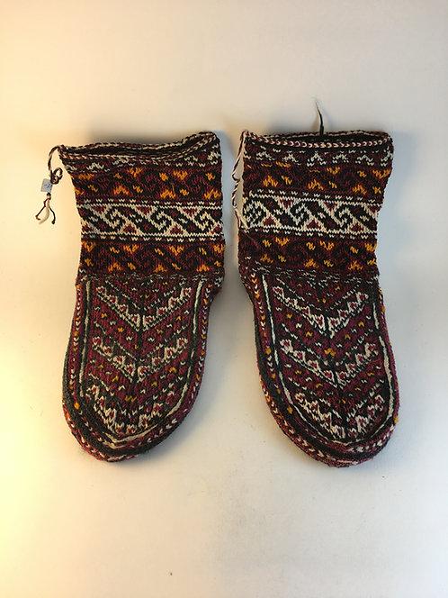 Hand Knitted Old Iraninan Raw Silk Village Socks