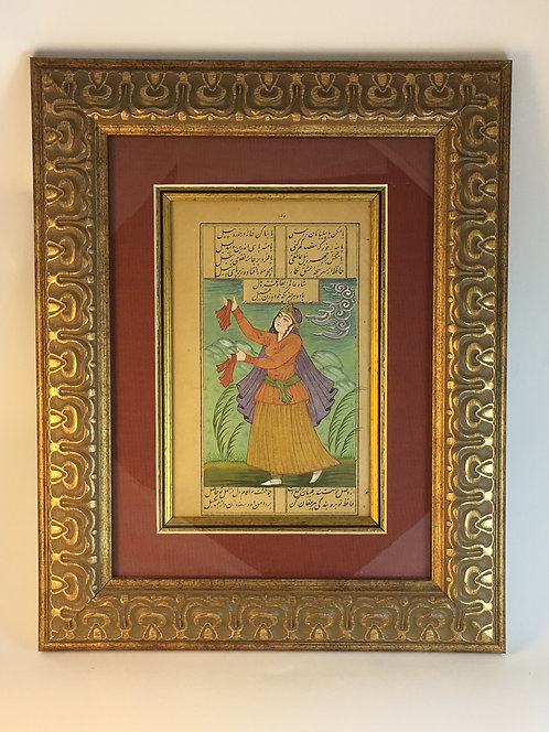 Persian Dancer Lady Miniature Painting