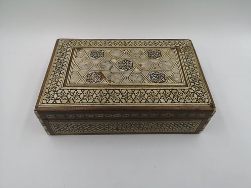 Mother of Pearl marquetry ottoman box