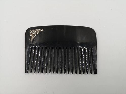 Caretta shell comb silver decor