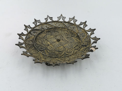 Ottoman Silver filigree miniature plate
