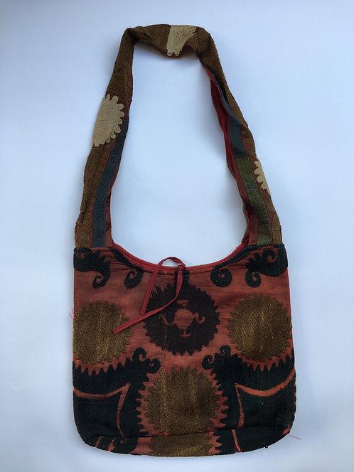TeaWash Suzani Embroidery Shoulder Bag