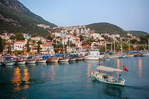 """Postcard """"Kaş, Fisherman's Marina"""""""