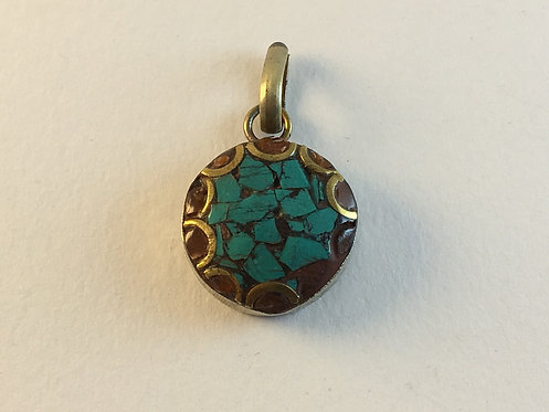 Mini Turquoise Coral Pendant