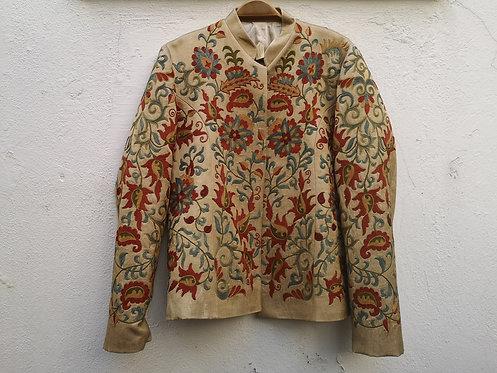 Silk hand embroidered Suzani Jacket