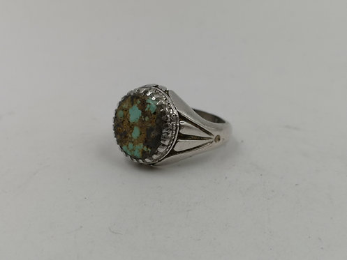 Meshed Turquoise silver ring