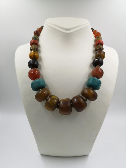 Amber Turquoise Coral Necklace