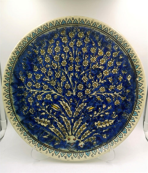 Kütahya 30cm Tree of Life antique plate