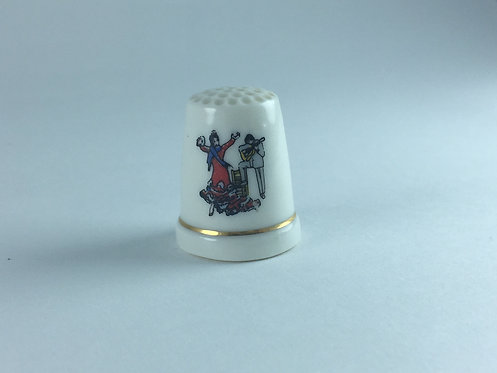 Spain Porcelain Memorial Thimble