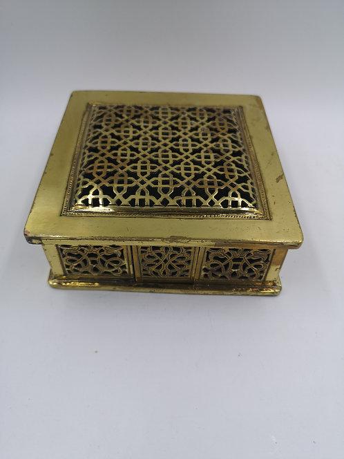 Moroccan brass cut box