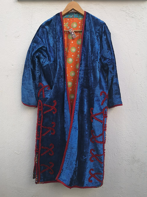 Silk velvet Turcoman khaftan