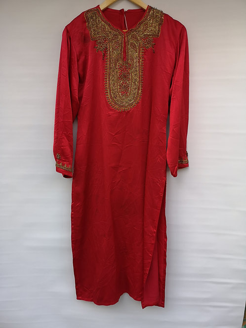 Pakistan silk gold thread dress