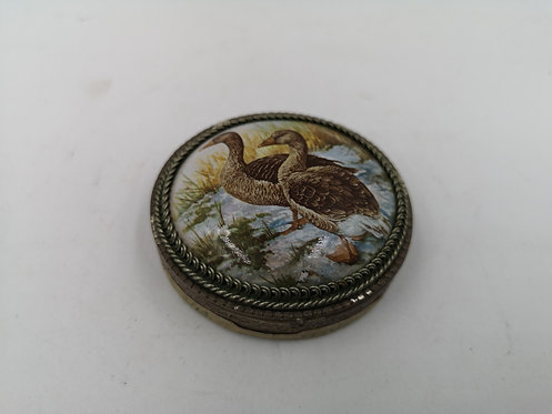 Ottoman porcelain 925k Silver pill box