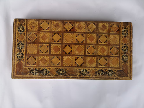 Antique marquetry Backgammon set