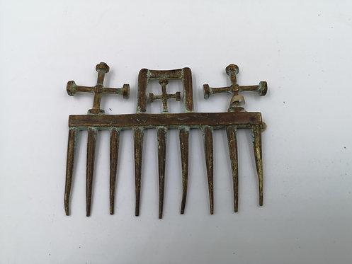 Byzantine ottoman replica bronze comb