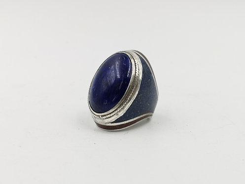 Lapis Lazuli hand made silver ring
