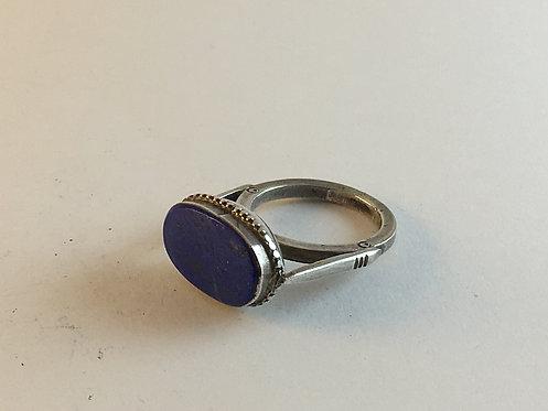 Afghan Lapis Silver Ring