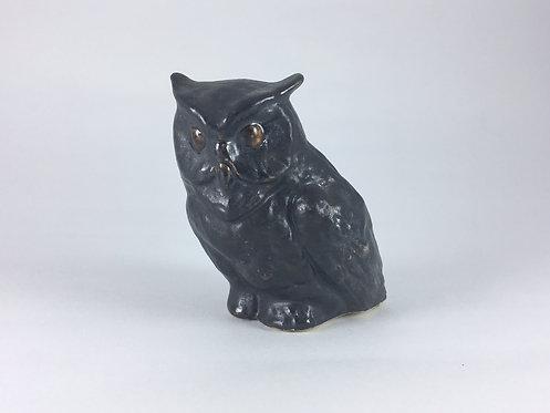 Black Ceramic Owl