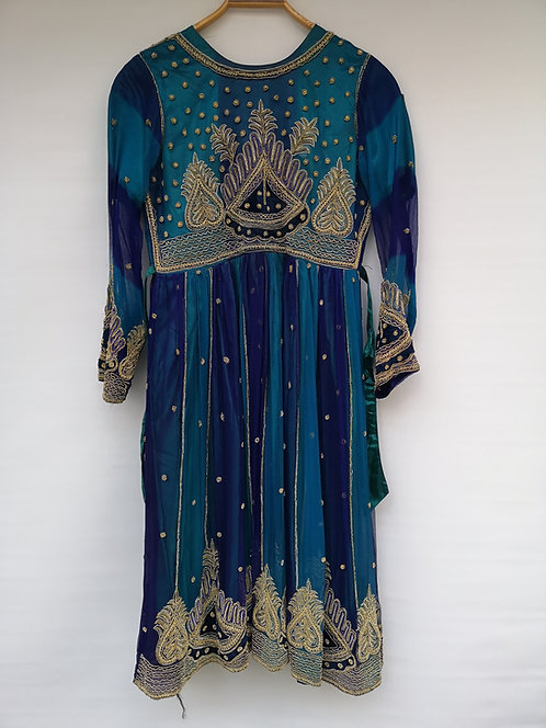 Karachi Pakistan silver embroidery dress