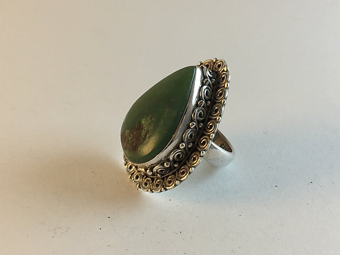 Afghan Turquoise Hand Made Silver Ring