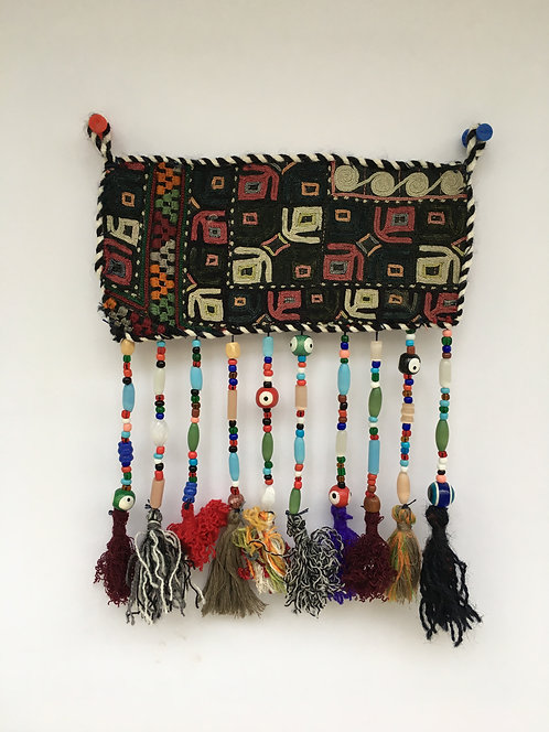 Turcoman Nazarlyk Embroidered Beaded Small Hanging