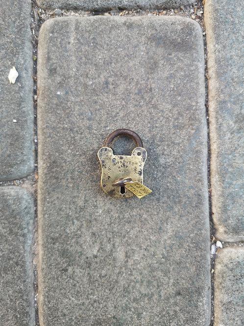 Mini brass padlock