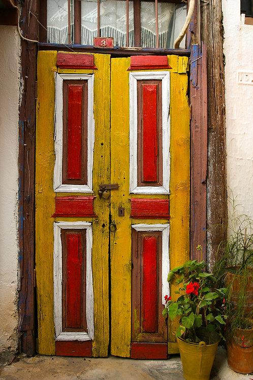 "Postcard ""Kaş, Yellow Door"""