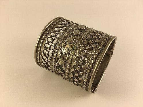 Afghan Uzbek Silver Bracelet