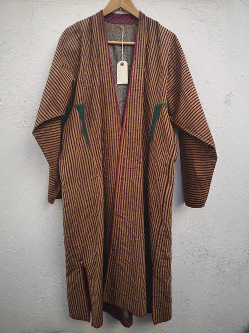 Striped Turcoman silk khaftan