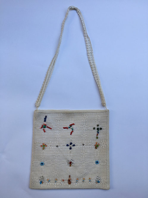 Hand Crochet Silk Shoulder Bag