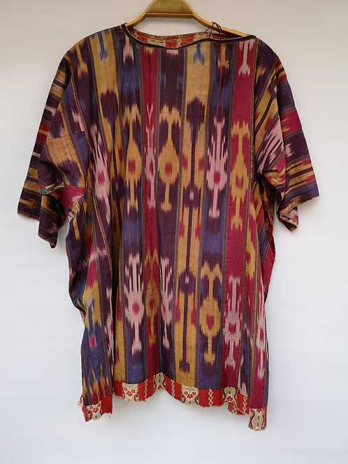 Uzbek silk Shaee shirt late 19th century