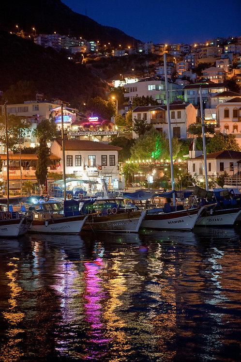"Postcard ""Kaş By Night"""