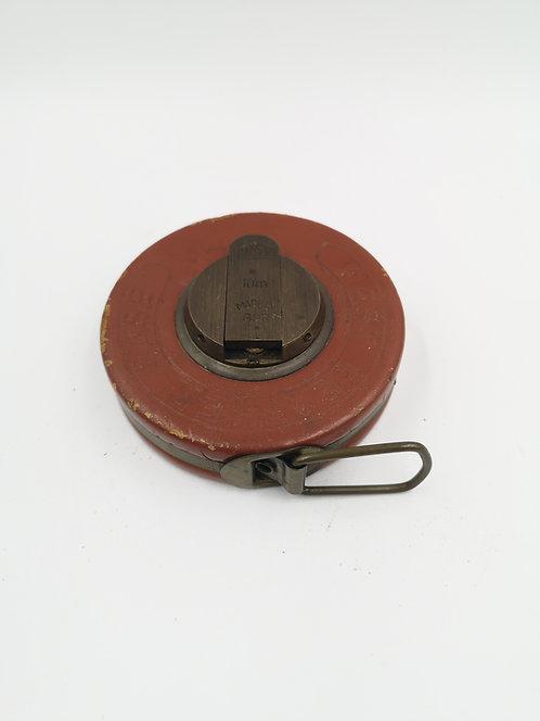 German steel hand ruler leather 10m