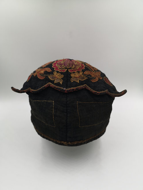 Antique hand embroidered hat from Vietnam