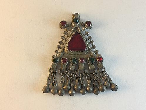 Afghan Kutchi Silver Pendant