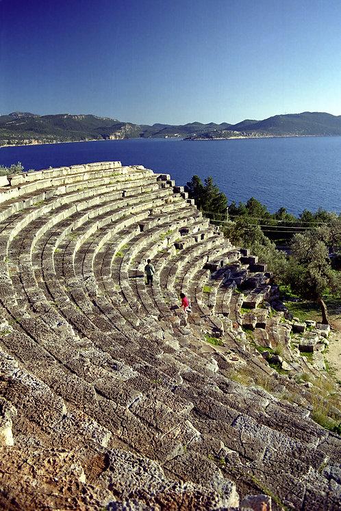 """Postcard """"Kaş, Antique Theatre"""""""