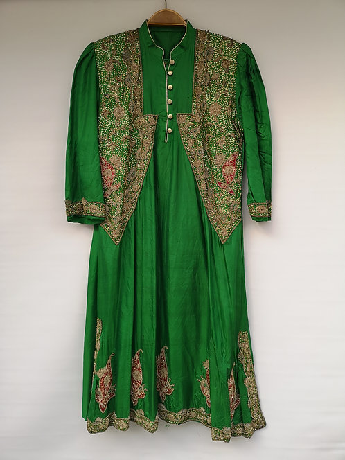 Indian silk embroidered dress