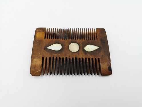 Mother of Pearl inlaid Wood comb
