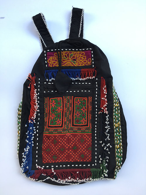 Belouch Embroidery Beaded Ruck Sack