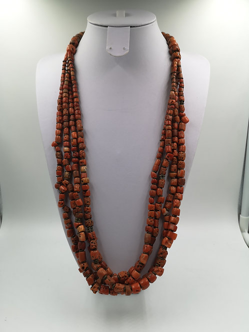 Ottoman Coral Necklace 4 strand