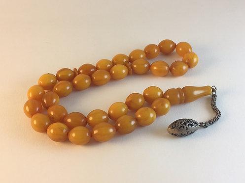 Antique Iranian Katalin Amber Large Prayer Bead