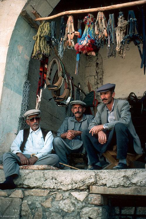 Three Men , friends. Diyarbakır