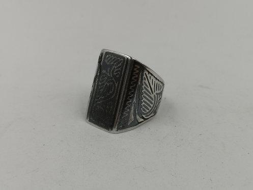Ottoman niellow silver ring